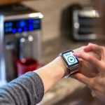 Human Hand Using Application on Smartwatch, Smart Homes