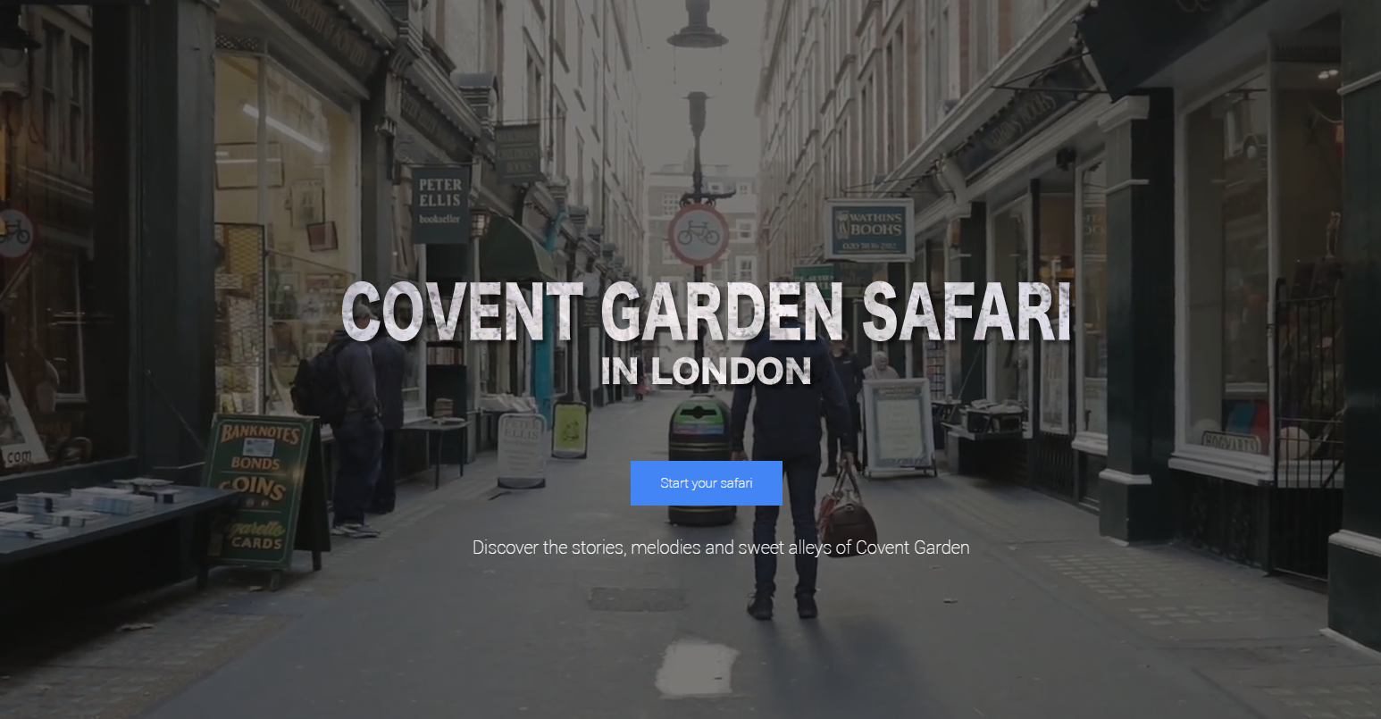 Safari in Covent Garden London